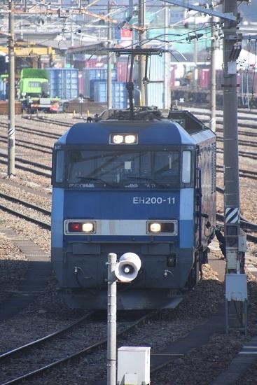 2021年2月13日撮影 南松本にて EH200-11号機 東線貨物2080レ