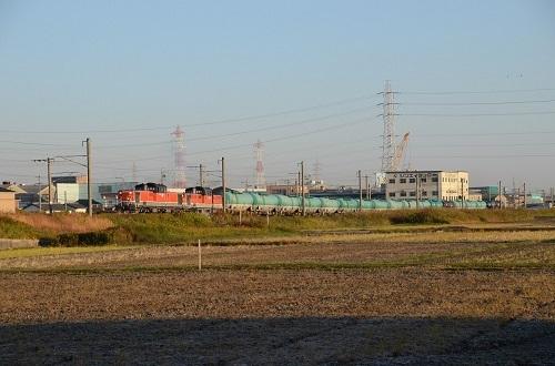 2014年11月21日撮影 関西本線 5263レ DD51-587+893号機 タキ貨物
