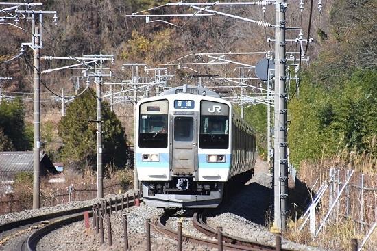 2020年11月28日撮影 中央東線 211系 436M N601編成