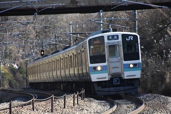 2020年11月28日撮影 中央東線 211系 437M N606編成
