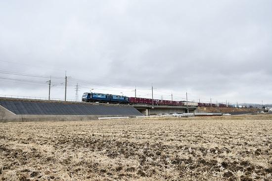 2021年3月6日撮影 東線貨物2083レ EH200-11号機 みどり湖にて