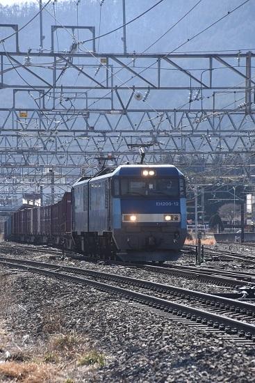 2021年2月13日撮影 東線貨物2083レ 塩尻駅を通過するEH200-12号機