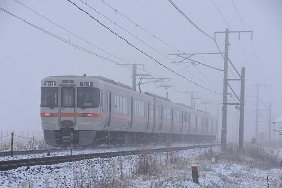 2020年12月5日撮影 中央西線 823M313系 霧の中