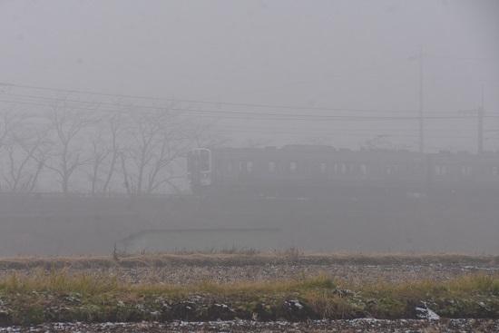 2020年12月5日撮影 中央東線 421M211系 霧の中