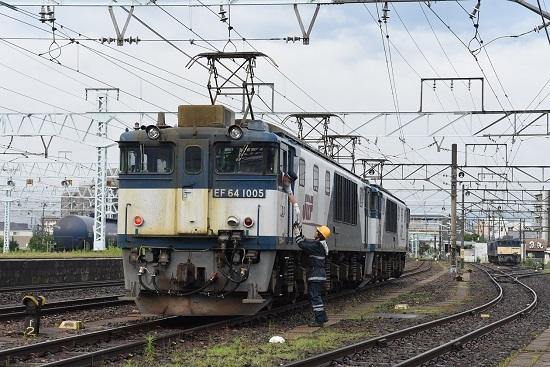 2021年7月3日撮影 篠ノ井線8087レ EF64更新色重連 無線機返却