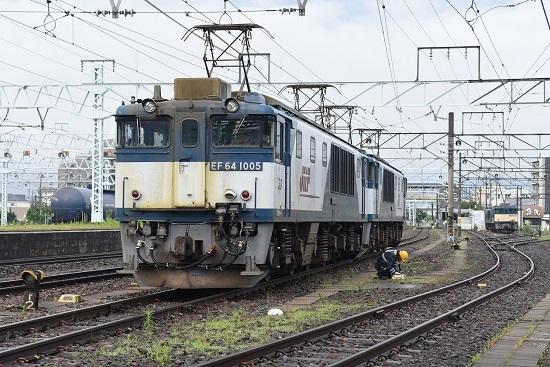 2021年7月3日撮影 篠ノ井線8087レ EF64更新色重連 トークバックにて報告