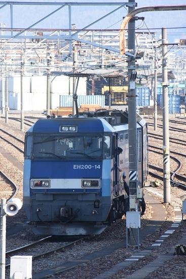 2021年2月14日撮影 南松本にて東線貨物2080レ 機回し 無線機渡し
