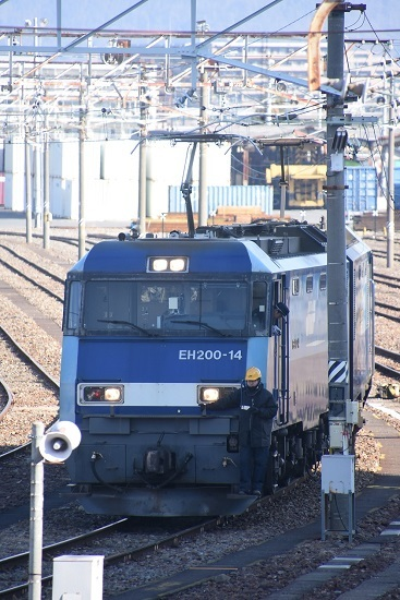 2021年2月14日撮影 南松本にて東線貨物2080レ 機回し 開始