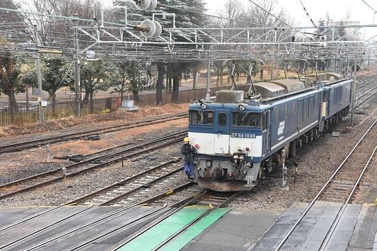 2020年12月5日撮影 西線貨物8084レ機回し EF64-1046号機 その2