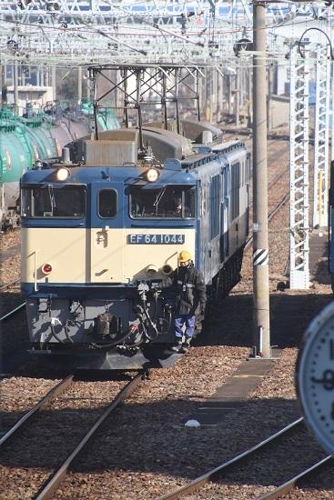 2021年2月14日撮影 南松本にて西線貨物8084レ 機回し開始