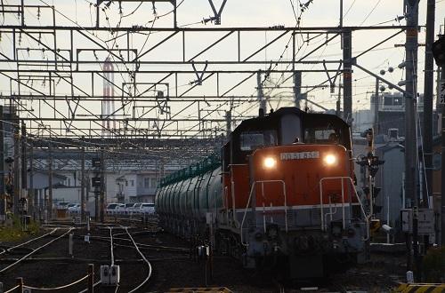 2014年11月21日撮影 関西本線 72レ DD51-865+890号機 タキ貨物