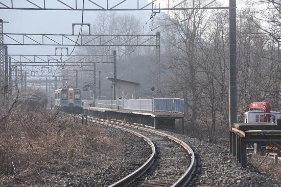 2021年2月21日撮影 信濃川島駅にて155M E127系