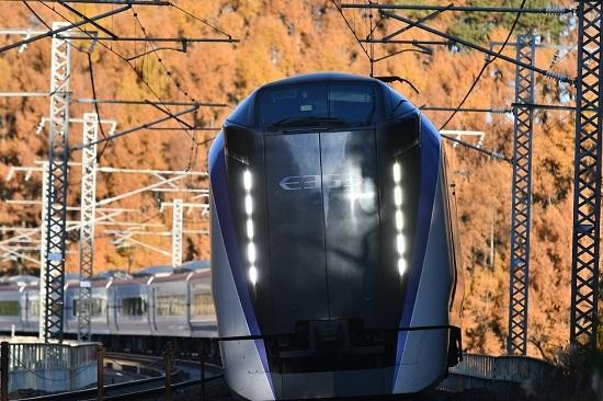 2020年11月15日撮影 立場川鉄橋にて 6M E353系「あずさ6号」 その4