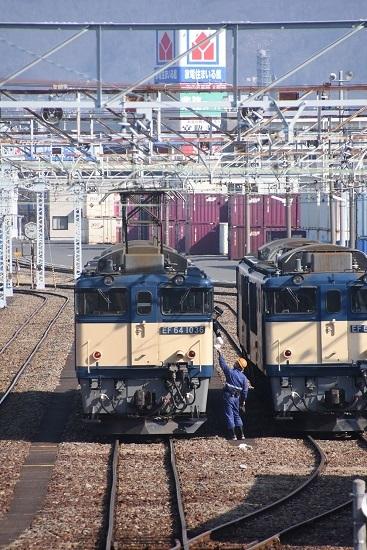 2021年2月21日撮影 南松本にて 西線貨物8084レ機回し メモ渡し