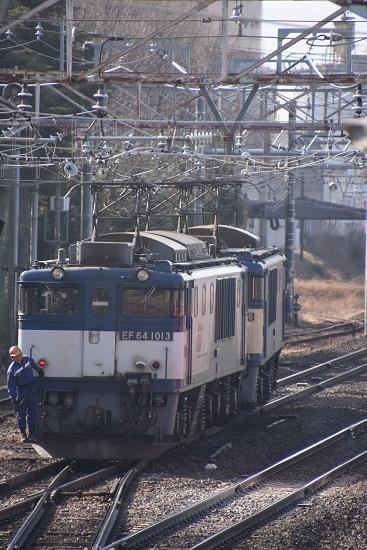 2021年2月21日撮影 南松本にて 西線貨物8084レ 本線をバック運転