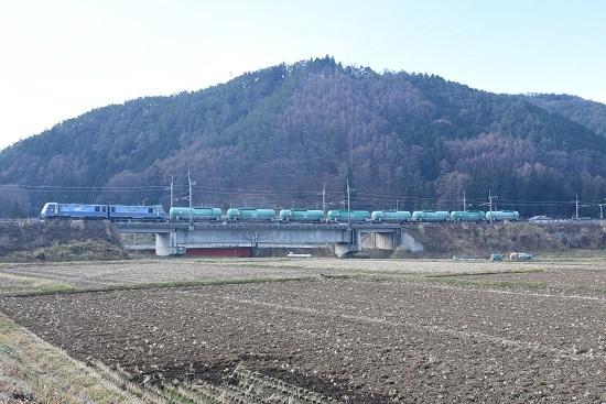 2020年12月5日撮影 東線貨物2080レ EH200-17号機+緑タキ8両