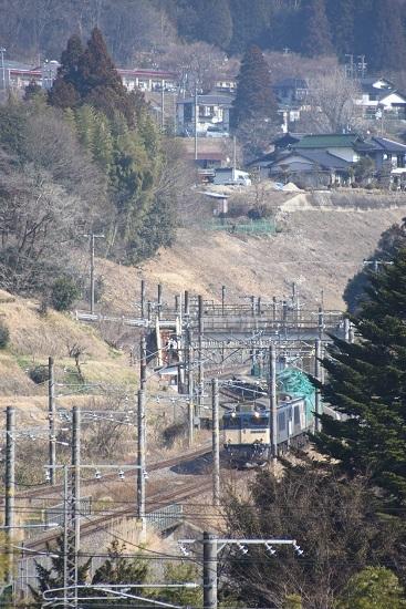 2021年2月21日撮影 西線貨物8084レ 田立駅通過