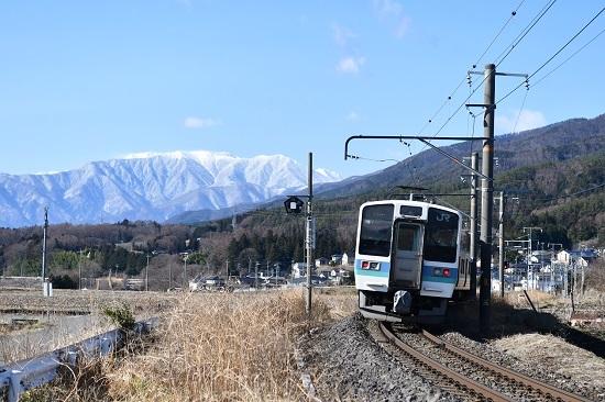 2021年3月14日撮影 飯田線 210M 211系 中央アルプス 後撃ち