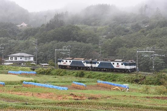 2020年9月26日撮影 篠ノ井線8467レ 坂北駅手前のカーブにて