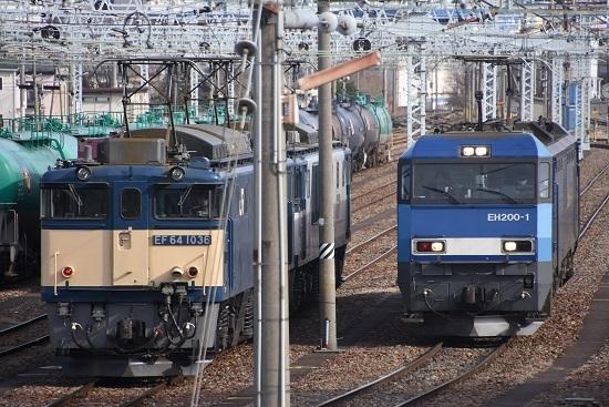 2021年2月27日撮影 南松本にて東線貨物2080レ 2人乗務