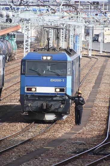 2021年2月27日撮影 南松本にて東線貨物2080レ 機回し待ち