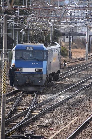 2021年2月27日撮影 東線貨物2080レ機回し 本線横断