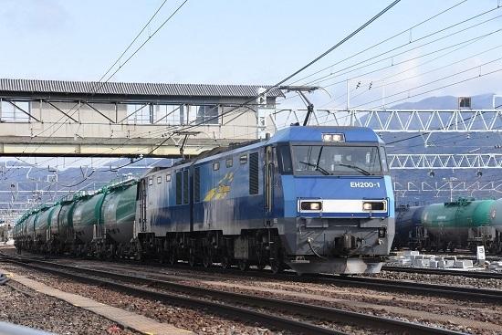2021年2月27日撮影 東線貨物2080レ EH200-1号機 発車待ち