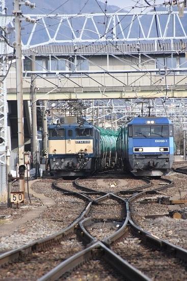 2021年2月27日撮影 西線貨物8084レと東線貨物2080レ EF64とEH200の並び