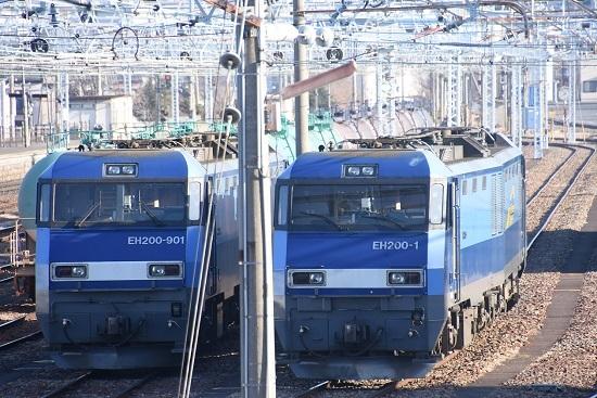 2021年2月28日撮影 南松本にてEH200-901号機とEH200-1号機の並び 1