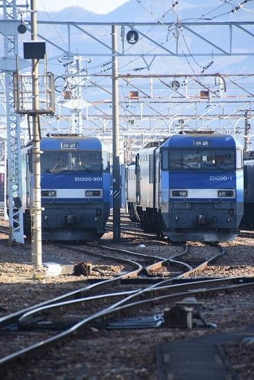 2021年2月28日撮影 南松本にてEH200-901号機とEH200-1号機の並び 2