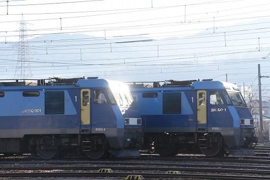 2021年2月28日撮影 南松本にてEH200-901号機とEH200-1号機の並び 4
