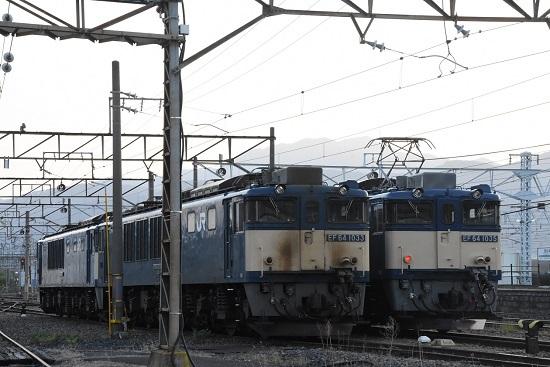 2021年5月8日撮影 南松本にて篠ノ井線8087レとお休み中のEF64