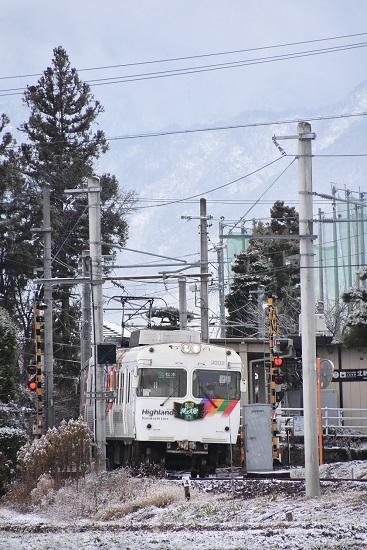 2020年12月19日撮影 アルピコ交通 3000系 松本山雅HM