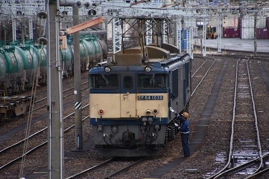 2020年12月19日撮影 南松本にて 西線貨物8084レ 機回し メモを渡す