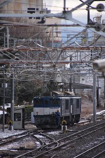 2020年12月19日撮影 南松本にて 西線貨物8084レ機回し 誘導員さんの誘導するスタイル