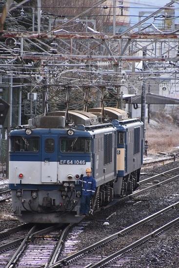 2020年12月19日撮影 南松本にて 西線貨物8084レ機回し 本線横断