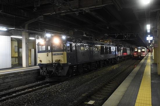 2021年3月1日撮影 西線貨物5880レ EF64-1033+1020号機