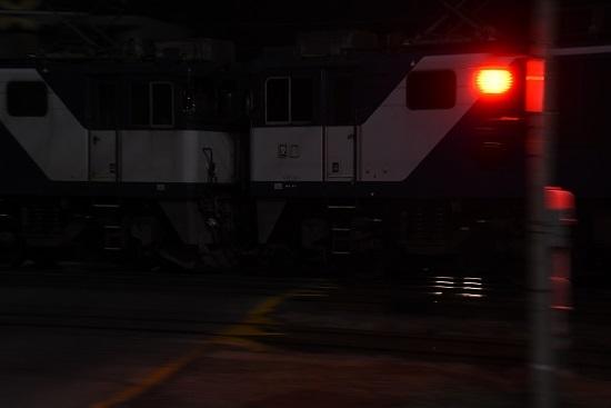 2020年10月3日撮影 南松本にて西線貨物6089レ 連結部流し撮り
