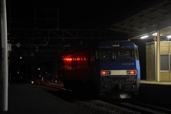 2021年3月1日撮影 東線貨物89レ EH200-4号機の単機 塩尻駅発車