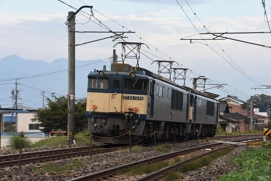 2020年10月3日撮影 篠ノ井線8467レ 後撃ちにてEF64-1036号機