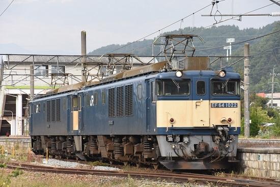 2020年10月3日撮影 篠ノ井線8467レ 聖高原駅にてEF64原色重連