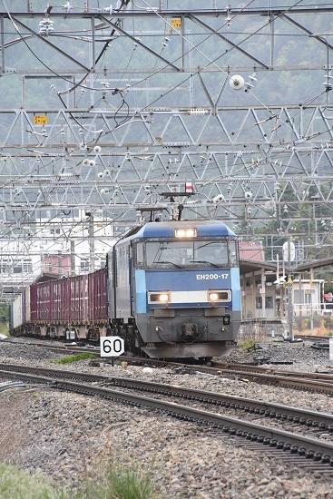 2021年5月8日撮影 東線貨物2083レ EH200-17号機 塩尻駅3番線通過