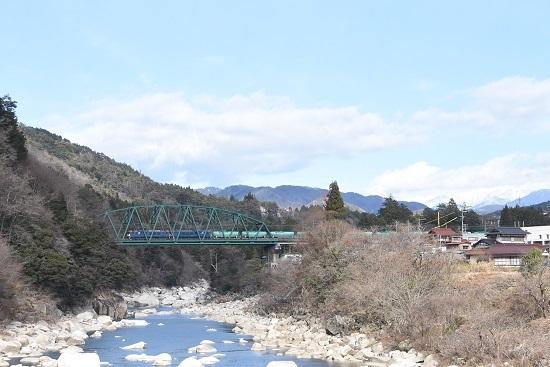 2020年12月26日撮影 西線貨物8084レ EF64原色重連 南木曽 鉄橋