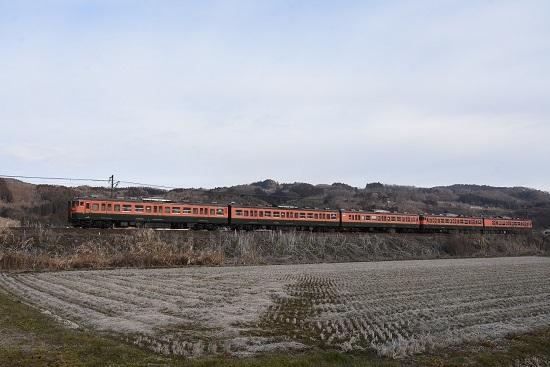 2021年3月7日撮影 しなの鉄道 314M 115系湘南色5両編成