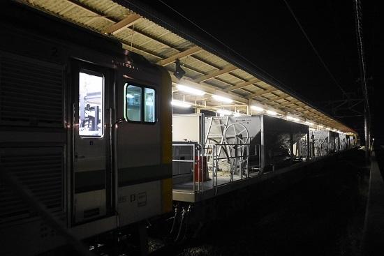 2021年5月15日撮影 塩尻駅にてGVーE197-1側からホキを撮影