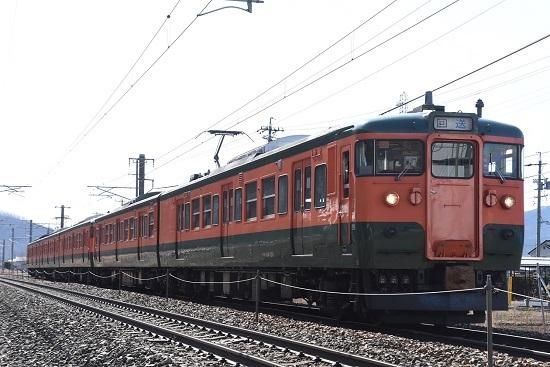 2021年3月7日撮影 しなの鉄道 115系湘南色5連 長野への回送 その2