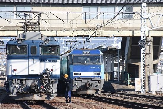 2020年12月27日撮影 南松本にて西線貨物8084レ機回し 無線機返却