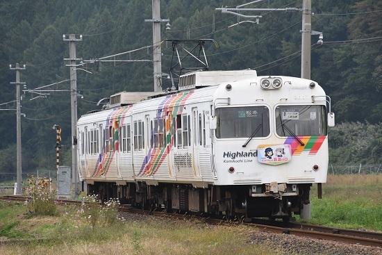 2020年10月4日撮影 アルピコ交通3000系 「10月14日は鉄道の日」オリジナルHM