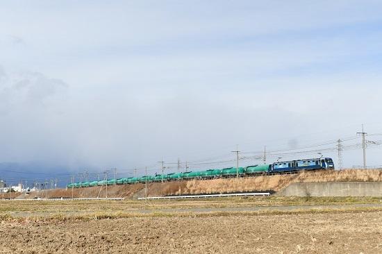 2020年12月13日撮影 東線貨物2080レ EH200-9号機+緑タキ15両 その2