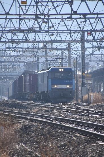2020年12月27日撮影 東線貨物2083レ EH200-16号機 塩尻駅 3番線